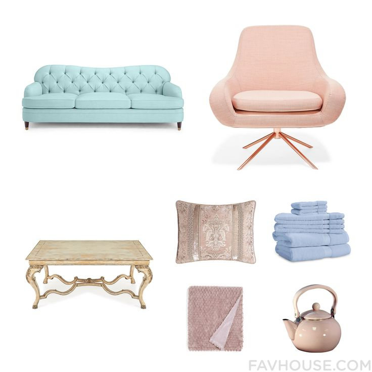Design Ensemble Featuring Kate Spade Sofa Spinning Chair John-Richard Accent Table And King Size Pillow Sham From January 2016 #home #decor