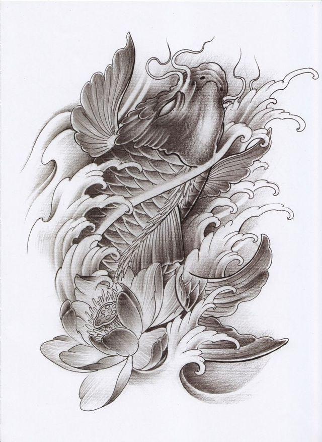 884 best carpa ou koi images on pinterest tattoo art for Japanese koi carp tattoos