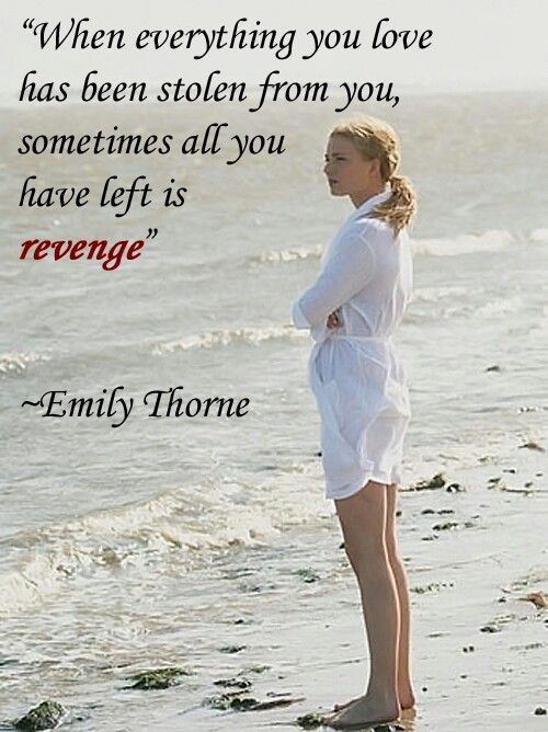 When everything you love has been stolen from you sometimes all you have left is revenge