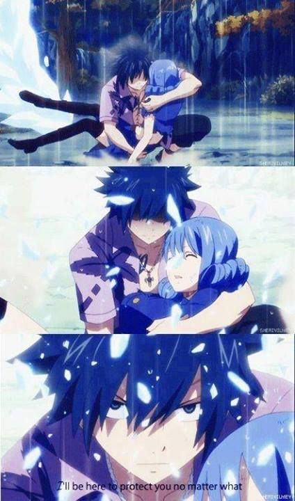 """Gruviaa aww <3 can I just say how angry he looks?! It basically says """" You hurt Juvia  prepare to die"""""""