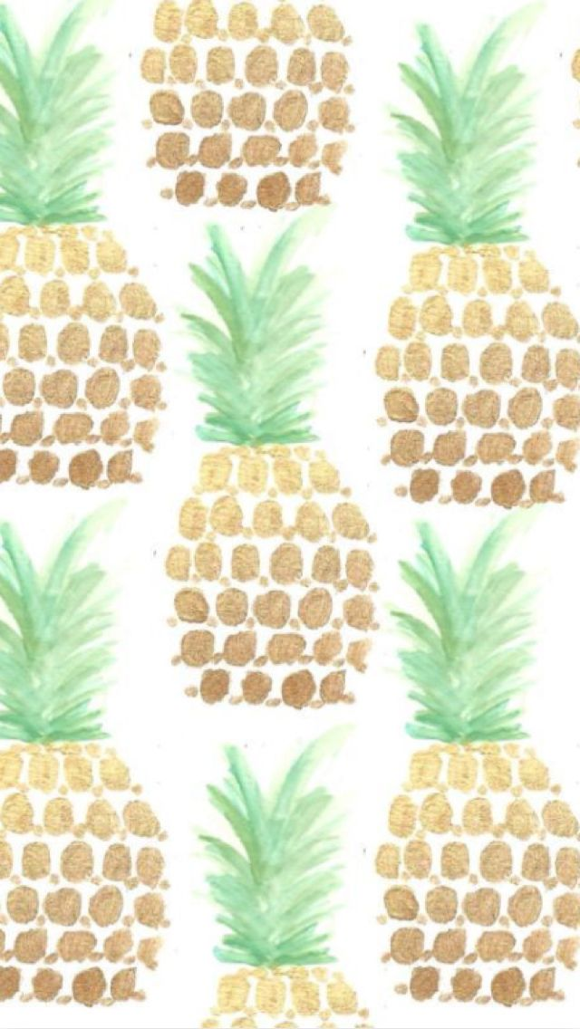 Cute backgrounds Pineapple art print, Pineapple art