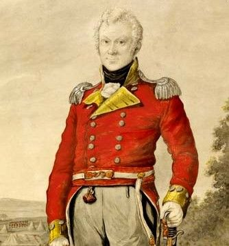 Lieutenant George Johnston an officer of the First Fleet in 1788. He led the mutinous forces that disposed of Gov. Bligh in the coup d'etat known as The Rum Rebellion in 1808