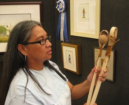 Norma howard choctaw - Choctaw - Wikipedia, the free encyclopedia Norma Howard (Choctaw Nation of Oklahoma), award-winning watercolor painter with Choctaw stickball sticks made by her son.