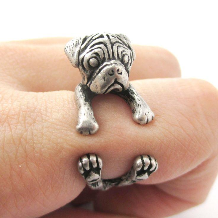 Pug Animal Ring