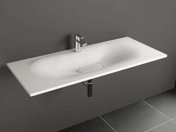 Aqua Bagno DROP Design Keramik Waschtisch 120cm weiß Waschbecken