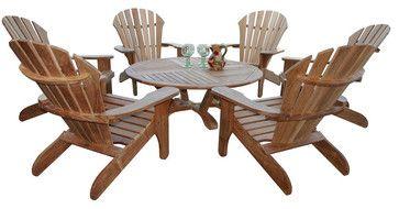 Douglas Nance Atlantic Adirondack Chair 6 Seat Group traditional-outdoor-chairs