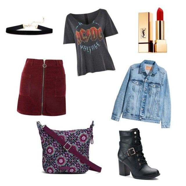 """""""Hey Saturday Night!"""" by lizdalma on Polyvore featuring Topshop, H&M, Apt. 9, Vera Bradley and Yves Saint Laurent"""