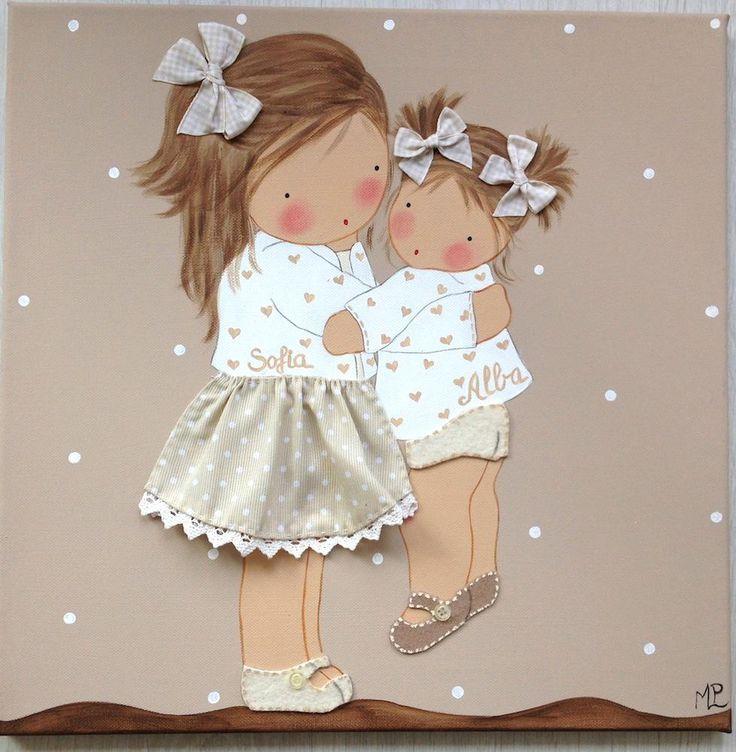 cuadro de niñas
