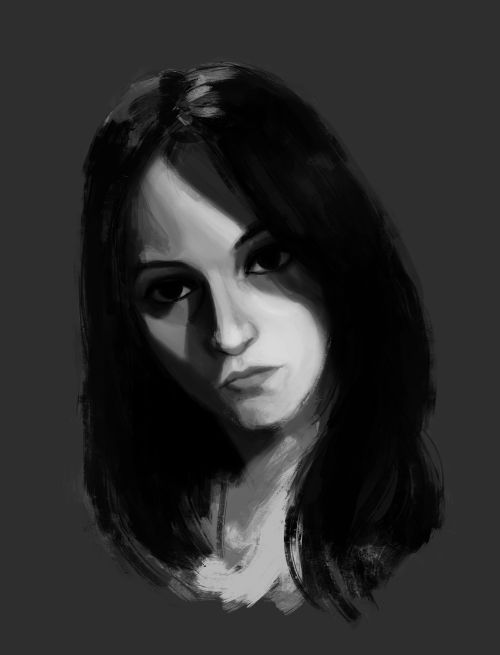 old friend of mine. digital portrait.