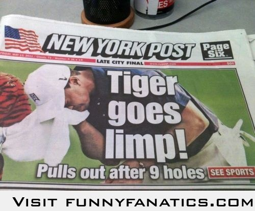 I see your funny tiger woods pun