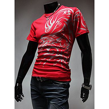 Mens Fashion Stylish Round Neck T-Shirt (5 Colours)