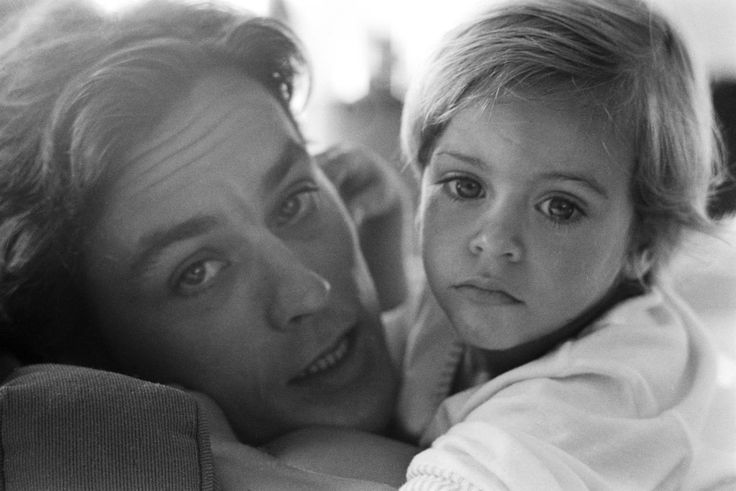 Alain Delon with his son Anthony, 1966