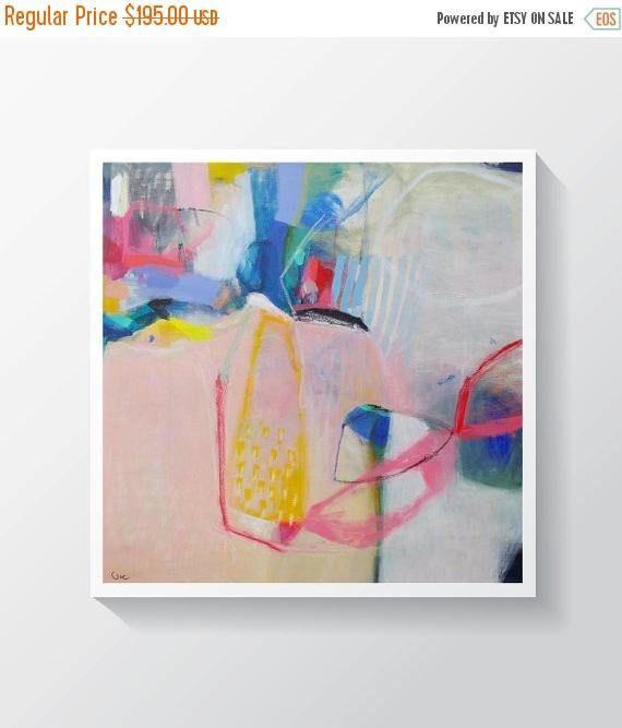 15% de descuento pintura abstracta Original mezclado pintura