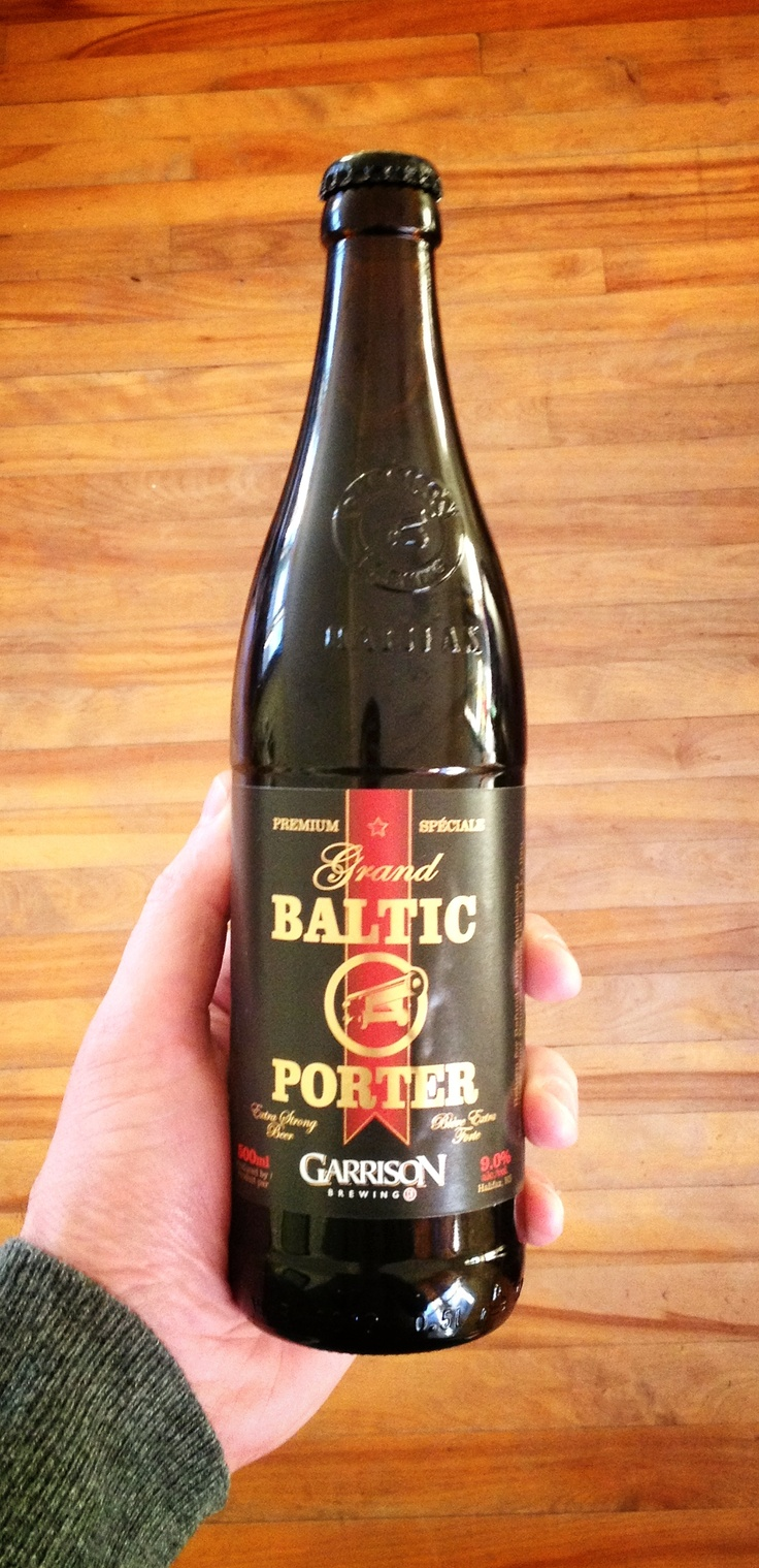 Got this the Baltic Porter for St. Paddy's Day. Sort of like a delicious meal.