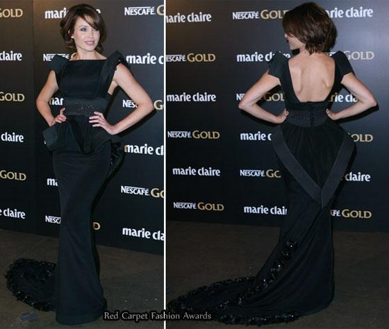 Dannii Minogue in J'Aton Couture at the marie claire Australia Prix de Excellence 2010