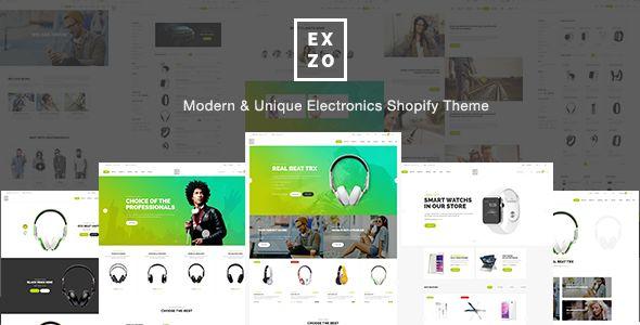 Modern Electronics eCommerce Shopify Theme - Exzo