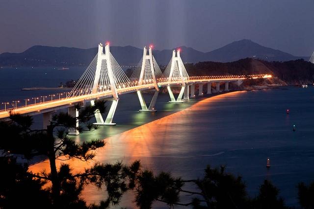 Geoje-Busan Fixed Link Bridge Grand Opening