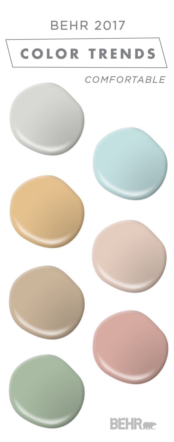 This Comfortable Color Palette From Behr S Collection Of 2017 Color Currents Is Full Of Soft Neutrals