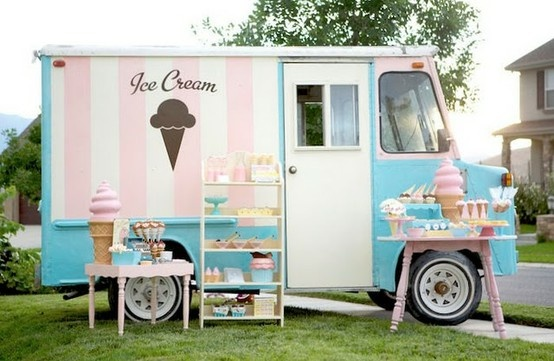 Ice cream on a wedding