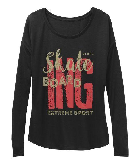 Skateboarding T Shirt Black T-Shirt Front