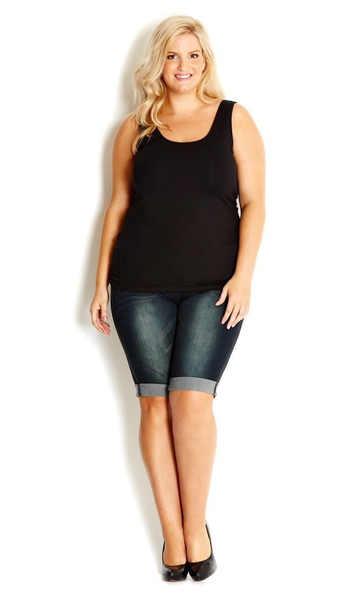 14 best images about PLUS SIZE: SHORTS on Pinterest | Knee length ...