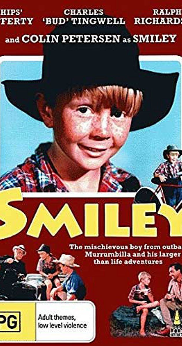 Directed by Anthony Kimmins.  With Colin Petersen, Bruce Archer, Ralph Richardson, John McCallum. Smiley Greevins is a cheeky, mischievous, imaginative little boy who lives in the small town of Murrumbilla in the Australian outback. His father Bill is a poor drover who is often away from home. Much to the exasperation of his overworked wife, Ma Greevins, Bill is also very fond of the drink. Smiley is determined to buy himself a push bike and so he takes on odd jobs in an effort to save up…