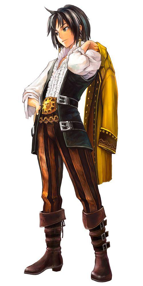 Bartido Ballentyne - Characters & Art - GrimGrimoire  I like the belt buckle and pants