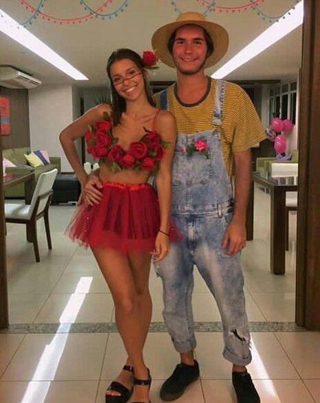 Para Casal 3 Rackin Couple Halloween Costumes Rose Costume E