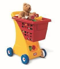 LITTLE TIKES - SHOPPING CART IN PRIMARY COLOURS - Adult jobs at children's sizes