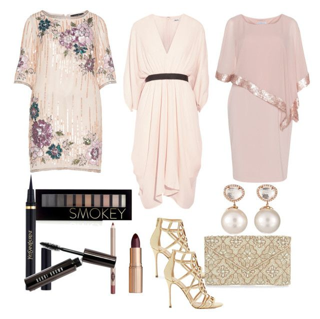 """""""Cocktail Wedding #ContestOnTheGo #ContestEntry"""" by lynetteamaro on Polyvore featuring navabi, Gina Bacconi, Issa, Sergio Rossi, Forever 21, Yves Saint Laurent, Charlotte Tilbury, Bobbi Brown Cosmetics, Monsoon and Samira 13"""