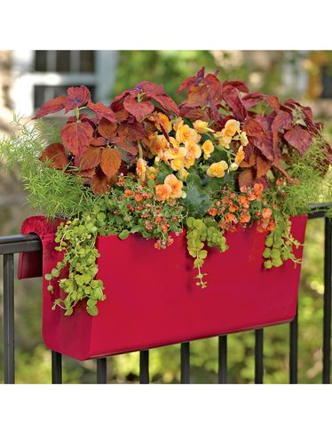 Self Watering Balcony Railing Planter. Great for flowers,  herbs and greens!