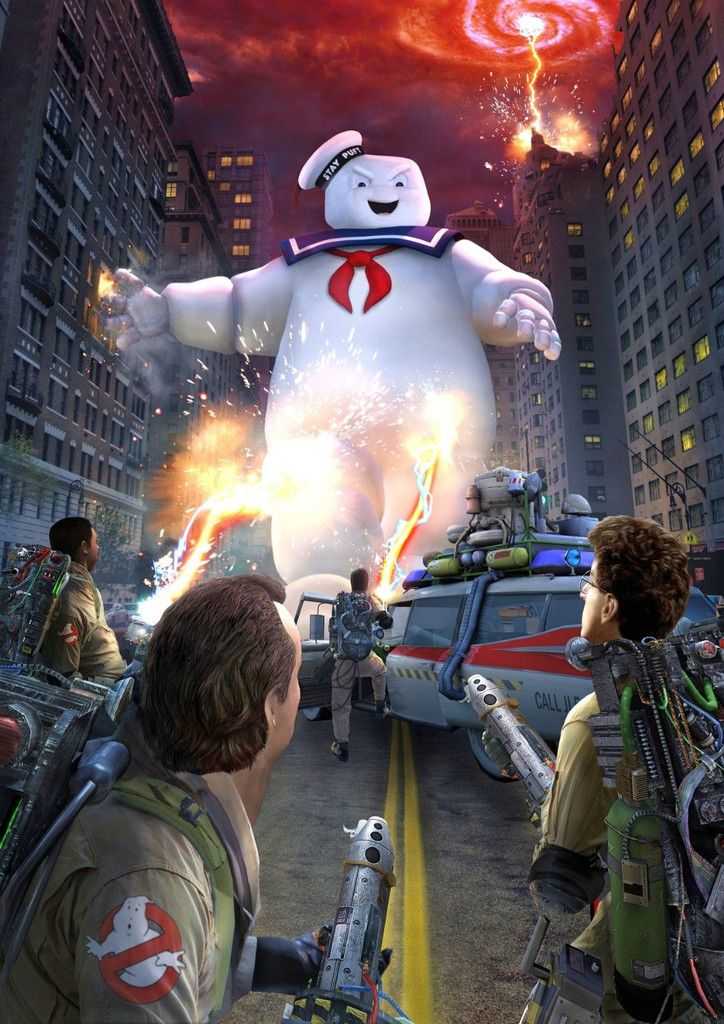 Ghostbusters posters. But several together as a backdrop for food or photos