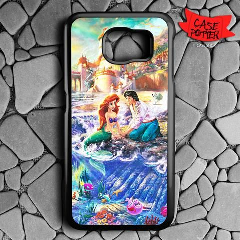 Disney Ariel And Eric Samsung Galaxy S6 Black Case