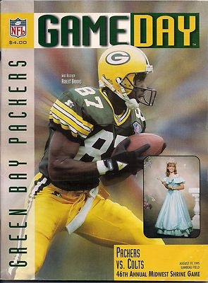 GREEN BAY PACKERS GAMEDAY PROGRAM PACKERS VS. COLTS AUG. 19, 1995