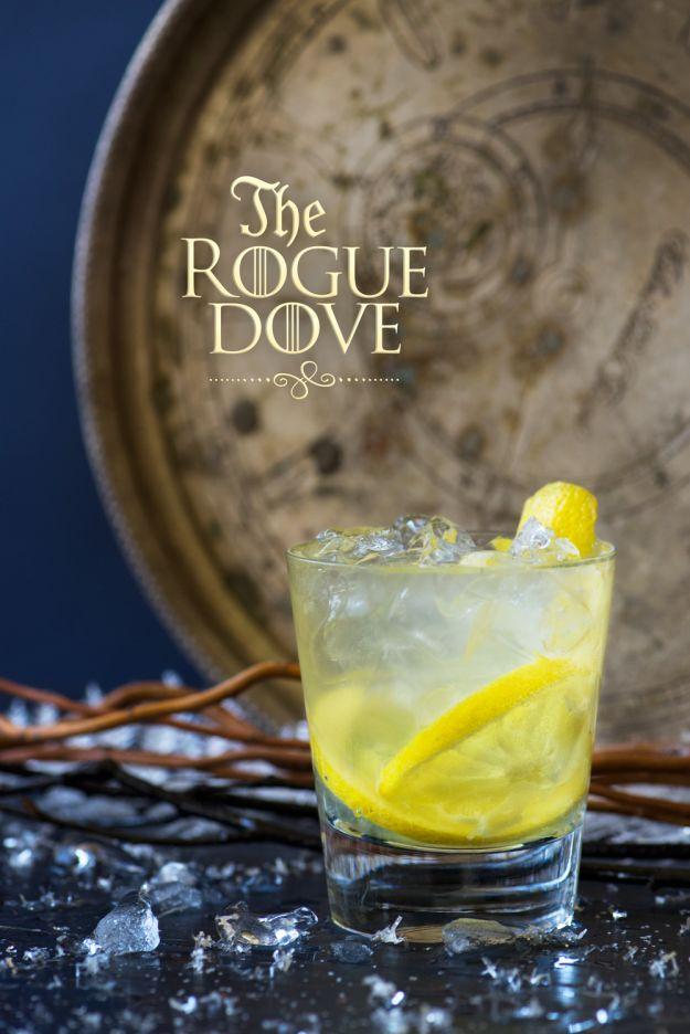 //The Rogue Dove// 1 lemon, 1 oz limoncello,  2 oz gin, tonic water
