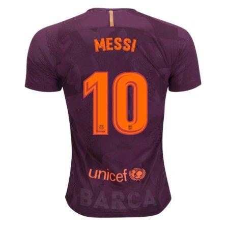 Barcelona Lionel Messi 10 3 trøje 17-18 Kort ærmer