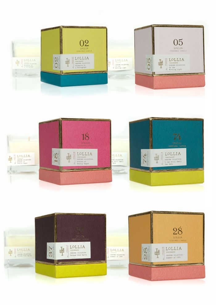 Lollia Poetic Candles - The Dieline -