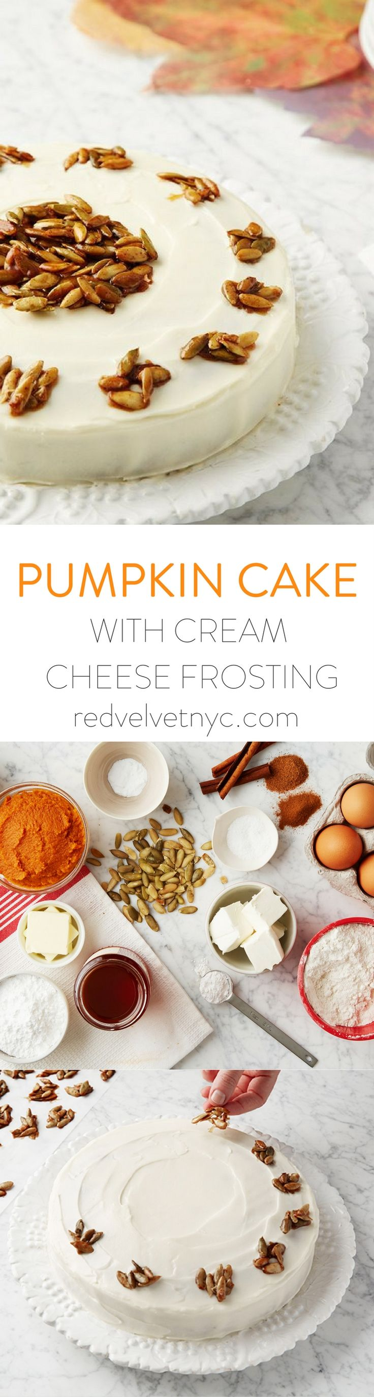 Homemade Pumpkin Cake with Cream Cheese Frosting- Spice up your fall menu with this delicious and moist Pumpkin Cake! Our Baking kit comes with an easy-to-follow recipe card and all the ingredients you need. Receive 15% off your first box with code PINTEREST15 !