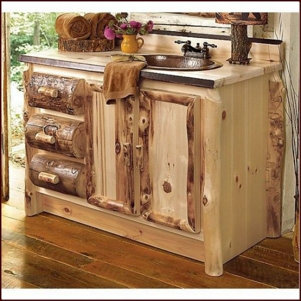 Decoration rustic-bathroom-vanities-with-plain-style