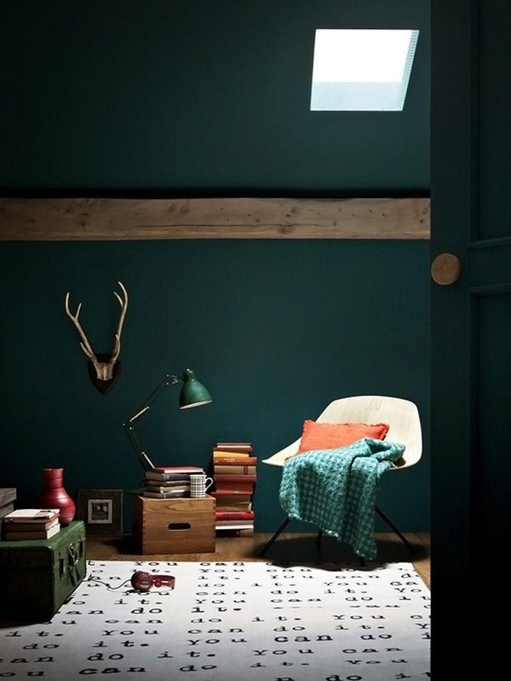 Ambiente com tapete de letras