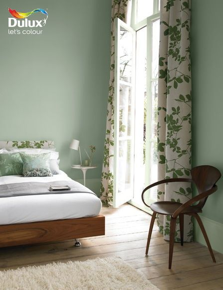 For a tranquil feel in your #guestbedroom use Dulux Tuscan Glade 4 on your walls.