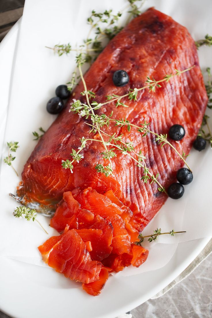 blueberry-cured salmon gravlax from Cooking with Cocktail Rings