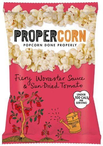 Propercorn Fiery Worcester Sauce and Sun Dried Tomato Popcorn 80 g (Pack of 12): Amazon.co.uk: Grocery (This stuff is like my studying crack! I love it but you can only get it at wait rose which is nowhere near me!) £18.70