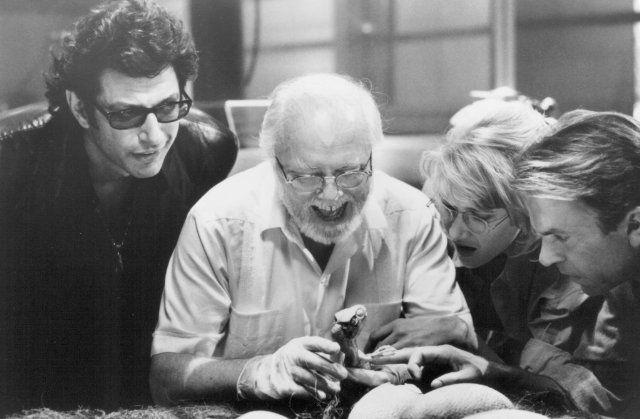 Still of Jeff Goldblum, Richard Attenborough, Laura Dern and Sam Neill in Jurassic Park (1993)