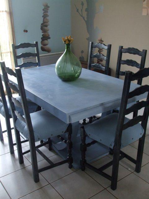 rénovation table et chaises