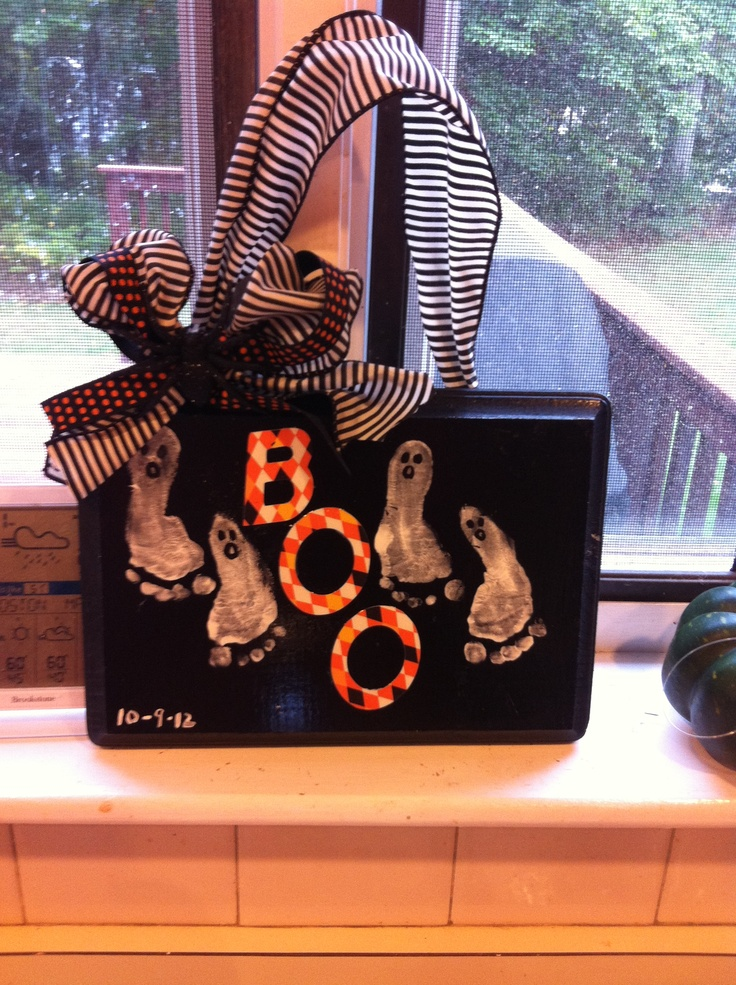 Halloween baby craft success.