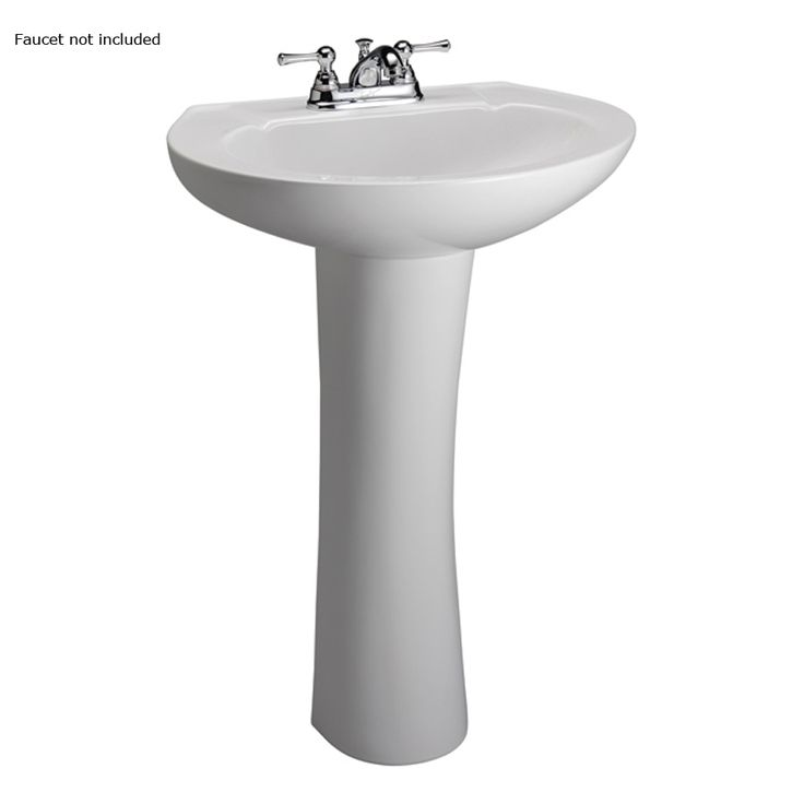 ... 33-in H White Vitreous China Complete Pedestal Sink at Lowes.com