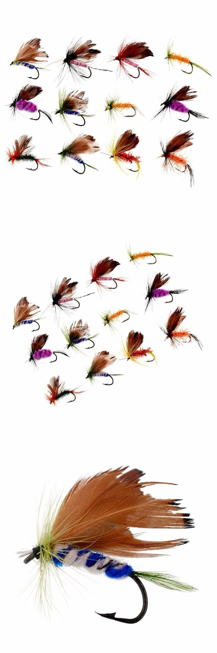[Visit to Buy] 12Pcs/set Various Dry Fly Fishing Trout Salmon Dry Flies Fish Hook Lures Fishing Pesca #Advertisement