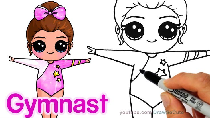 How to draw a cute gymnast step by step easy chibi how for How to draw cute people
