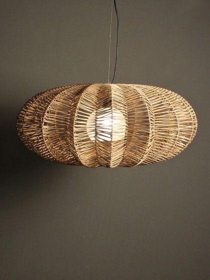 jameson lamp   RedInFred Natural fiber pendant light